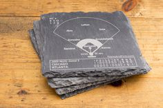 Cubs Greatest Plays Coasters - Slate Coasters (Set of 4) – Points and Pints