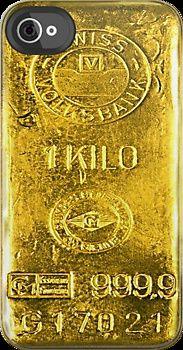 Gold Bar by Adam de la Mare iPhone case