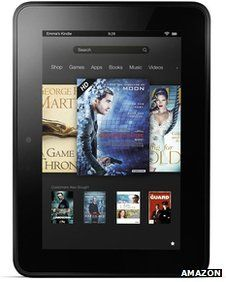 Amazon's launches new Kindle Fire tablets in UK - The Kindle Fire HD comes in two options: either with a 7in (17.8cm) screen or an 8.9in (22.6cm) one. That pitches the latter directly against Apple's slightly larger iPad, the bestselling tablet on the market