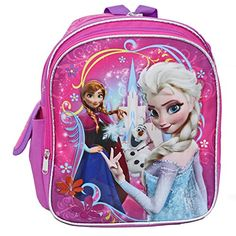 Ruz Disney Frozen Small Backpack Bag - Not Machine Specific @ niftywarehouse.com #NiftyWarehouse #Frozen #FrozenMovie #Animated #Movies #Kids