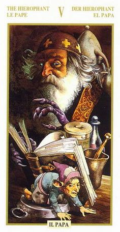 The Hierophant from Golden Dawn Tarot