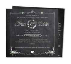 Invitaciones de boda originales - Planet-cards.es Chalkboard Quotes, Art Quotes, Wedding, Wedding Invitations, The Originals, Valentines Day Weddings, Weddings, Marriage, Chartreuse Wedding