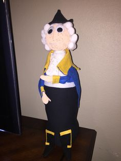 General George Washington bottle buddy. My 4th grader's project.