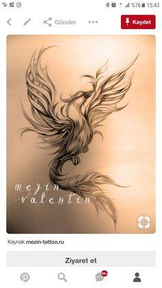 Sketches of tattoos. - Sketches of tattoos. Tattoo artist Valentin Mez … Sketches of tattoos. Phoenix Tattoo Feminine, Small Phoenix Tattoos, Phoenix Tattoo Design, Small Tattoos, Tattoo Phoenix, Phoenix Art, Phoenix Design, Neue Tattoos, Body Art Tattoos