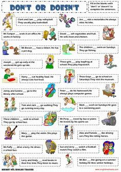 ESL Printable Worksheets and English Exercises For Kids English Grammar Worksheets, English Verbs, Kids English, English Lessons, English Vocabulary, Learn English, Grammar Activities, Teaching Grammar, English Activities