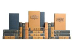REALLY want this collection someday!!  Harvard Classics, Tan & Navy, S/20