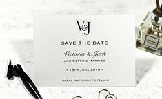 A timeless classic and elegant way to introduce your wedding. This simple yet stunning save the date card features your initials embossed in foil with classic b Embossed Wedding Invitations, Budget Wedding Invitations, Classic Wedding Invitations, Wedding Stationery, Wedding Save The Dates, Save The Date Cards, Cheap Wedding Venues, Wedding Ideas, Wedding Rings Online