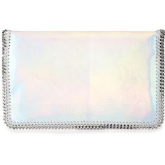 Stella McCartney Faux Leather Hologram Clutch 785 Liked On Polyvore