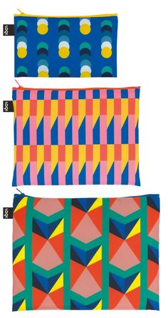 Zip Pockets Geometric - set 3 pcs | LOQI