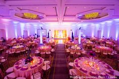 Indian Wedding Reception in pink and gold, San Jose, California | MaharaniWeddings.com