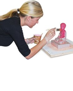 You can save material and money by making your silicone mold conform to the shape of your model. In this moldmaking and casting tutorial video, you will learn how to use aluminum flashing to create a custom mold box for an irregularly shaped model. Silicone Baby Dolls, Silicone Rubber, Silicone Molds, Rtv Silicone, Concrete Sink Molds, Concrete Casting, Silikon Baby, Body Cast, Mold Making