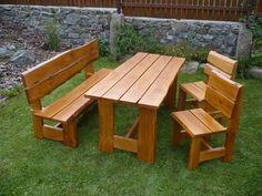 Dubová sestava Picnic Table, Outdoor Furniture, Outdoor Decor, Retro, Home Decor, Mesas, Gardens, Furniture, Decoration Home