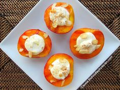 Grilled Peaches with Greek Yogurt & Honey. The post features lots of ...