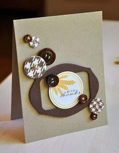 Die cut window layered with circle tag.  Love this simple design.  By Maile Belles