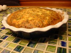 Crustless Quiche Loraine. Super easy and the perfect low carb brunch treat