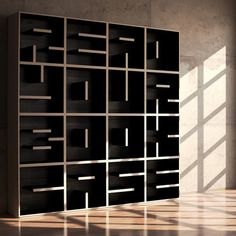 READ YOUR BOOK CASE: Innovative Modular stack able bookcase.
