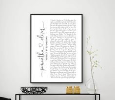 Wedding Song Lyrics Personalized First Dance Favorite Song Canvas Print 1st Anniversary Custom Sign Framed Fathers Day Gift For Her Him