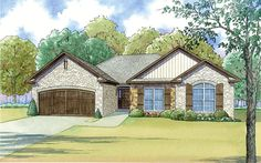 House Plan 82455 | Cottage Country Traditional Plan with 1754 Sq. Ft., 2 Car Garage