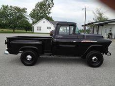 1957 Chevrolet 3100 V8 Napco 4x4. Black Beauty! - NAPCO Owners ... Vintage Pickup Trucks, Antique Trucks, Classic Chevy Trucks, Chevrolet 3100, Chevrolet Trucks, Gmc Trucks, Farm Trucks, Cool Trucks, Gmc 4x4