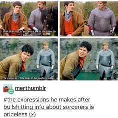 Merlin talking about his alter egos Merlin Show, Merlin Fandom, Merlin Merlin, Merlin Memes, Merlin Funny, Merlin And Arthur, King Arthur, Nerd, Bradley James