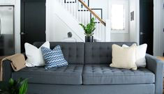 Property Brothers Family Room Reveal by Karin Bennett Designs.