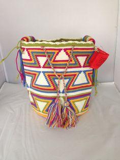 Large Multi-Colored Wayuu Mochila DT291