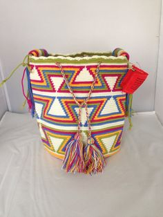 Large Multi-Colored Wayuu Mochila DT291