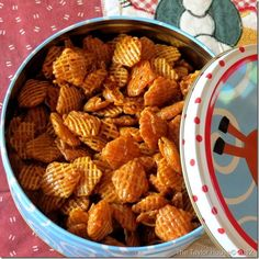 Chex Mix Recipes: Caramel Chex Mix; now I don't have to bother my mom for the recipe every time I make it!