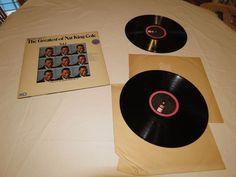 The Greatest of Nat King Cole Vol 1 & 2 gatefold BIG LP Album RARE Record vinyl