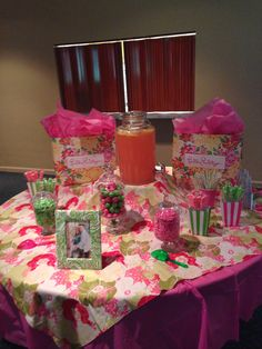 my lilly pulitzer theme shower
