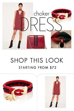 """""""Choker Dress"""" by cj-blue ❤ liked on Polyvore featuring Chloé, Missguided, Gucci and chokerdress"""