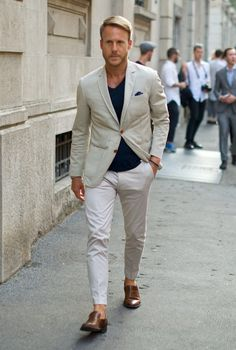 Shades of Cream and White, Urban Street Style, Men's Spring Summer Fashion.