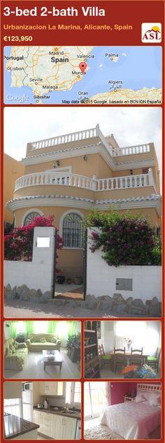 3-bed 2-bath Villa in Urbanizacion La Marina, Alicante, Spain ►€123,950 #PropertyForSaleInSpain