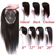 Swiss Mono Net Remy Human Hair Topper Toupee Hairpiece Wig For Women in Health & Beauty, Hair Care & Styling, Hair Extensions & Wigs Afro, Regrow Hair Naturally, Hair Toupee, Black Brown Hair, Thin Hair Styles For Women, How To Grow Natural Hair, Half Wigs, Hair Loss Women, Remy Human Hair