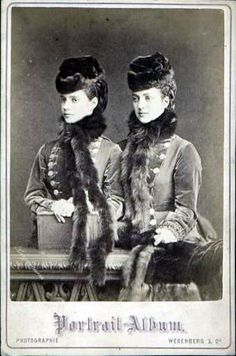 Sisters Alix (Queen Alexandra of England) and Dagmar (Tsarina Marie Feodorovna of Russia) of Denmark.