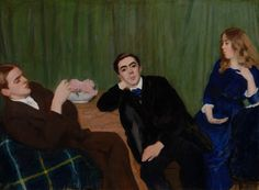 FERENCZY, Károly Triple Portrait (Sister and Brothers) 1911 Oil on canvas, 77 x 104 cm Magyar Nemzeti Galéria, Budapest Victor Vasarely, Oil Painting Reproductions, Portraits, Hanging Art, Figure Painting, Figurative Art, Impressionism, Oil On Canvas, Past