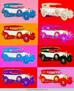 """Warhol's """"Mercedes 400 Tourenwagen (1925)"""" multiple of eight, 1986More Pins Like This From FOSTERGINGER @ Pinterest"""