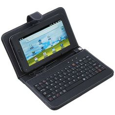 """osell wholesale dropship USB Keyboard & Leather Cover Case Bag for 7"""" Tablet PC MID PDA VIA 8650 $4.24"""