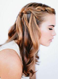 Cute Braided Hairstyles for Girls: Waterfall Braid