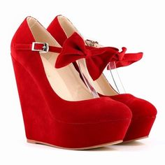 2015 Europe Sexy High Platform Women Shoes Flannel Bowtie Decoration Women High Heels Shoes Wedges Shallow Mouth Round Toe 391-3