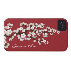 Cherry Blossoms iPhone 4 Case-Mate Case (red)