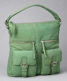 Take a look at this Apple Green Pocket Tote  by Nino Bossi Handbags on #zulily today!