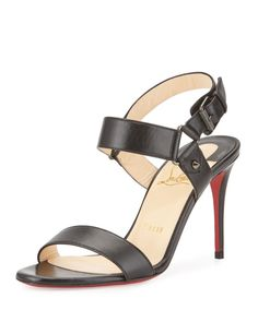 Christian Louboutin - Sova Leather 85mm Red Sole Sandal