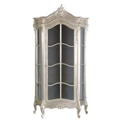 Tiffany Silver French Glazed Display Cabinet