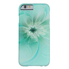 Blue Dreams Modern Floral iPhone 6 case