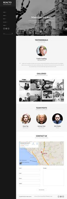 Reacto is wonderful WordPress Portfolio #Template for Creatives #Photography #website. Download Now!