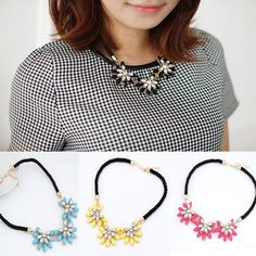Crystal Flower Pendants Bib Statement Necklace Chunky Bubble Choker Collar Chain #Other  http://www.ebay.com/itm/Crystal-Flower-Pendants-Bib-Statement-Necklace-Chunky-Bubble-Choker-Collar-Chain-/251637273144?pt=LH_DefaultDomain_2&var=&hash=item3a96c01238