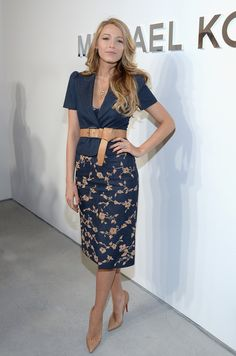 Blake Lively - Backstage at the Michael Kors Show
