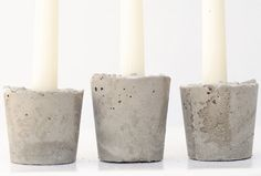 Use Paper Cups + Concrete to Make Pretty Candle Holders via Brit + Co.