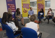 The pair were happy to hear from a group of young women affected by mental health issues a...